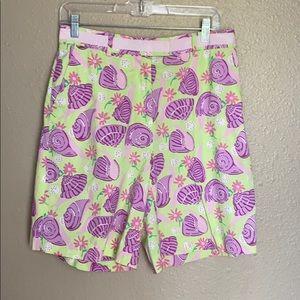 Vintage Lilly Pulitzer shell print Bermuda shorts